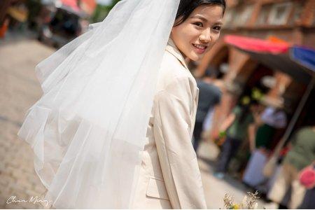 韓系西裝婚紗新娘