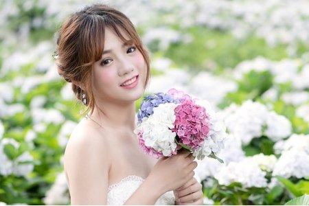 繡球花新娘造型