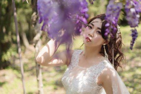 紫藤花新娘-高馬尾