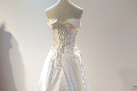 二手婚紗-一字肩齊地系列