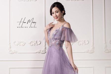 淡紫長禮服
