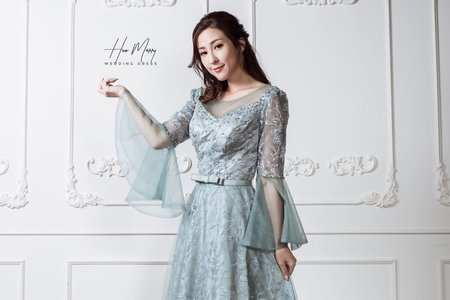 水藍色長禮服