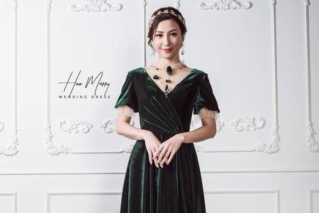 暗綠長禮服