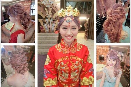 新秘RITA|新娘秘書|bride-吹|盤髮|髮絲感|乾燥花|編髮|浪漫捲