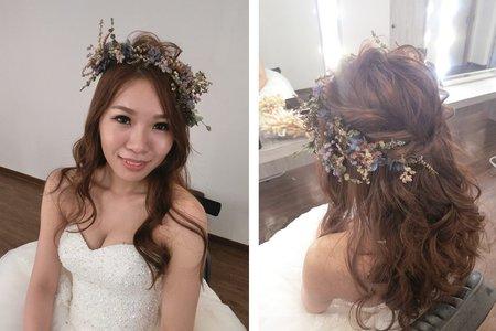 新秘RITA|新娘秘書|bride-玉娟|浪漫捲髮造型|捲髮|光澤肌|裸妝