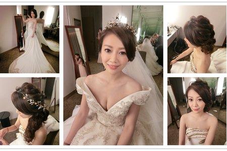 新秘RITA|新娘秘書|bride-claire|盤髮|編髮|側邊編髮|皇冠