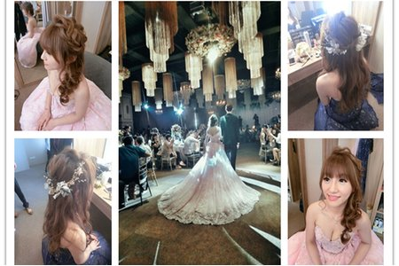 新秘RITA|新娘秘書|bride-eva|浪漫捲髮|訂婚造型|浪漫捲髮|乾燥花不凋花