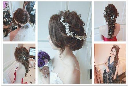 新秘RITA|新娘秘書|bride-jean|盤髮|編髮|水滴造型|側邊捲髮|皇冠|蕾絲長頭紗