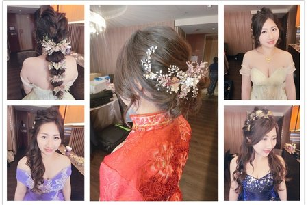 新秘rita|新娘秘書|bride-莉筑|中式造型|裙掛|公主頭|線條感|側邊捲髮|球球造型|大眼妝