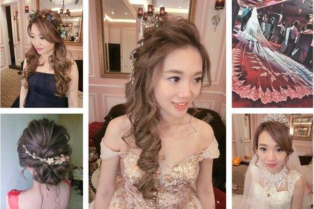 新秘RITA|新娘秘書|bride-澄沂|好媳婦髮型|浪漫捲髮|訂婚造型|蕾絲長頭紗|側邊捲髮|森林系|浪漫捲髮
