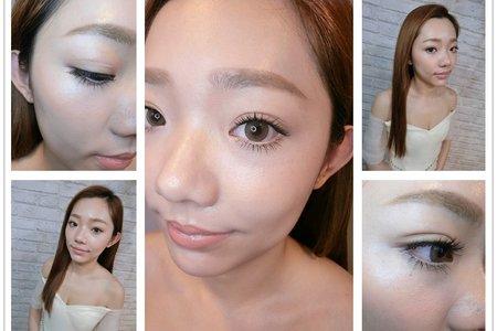新秘RITA|自然眼妝|光澤肌|隱形睫毛|裸妝|自然睫毛|仿真睫毛|油頭