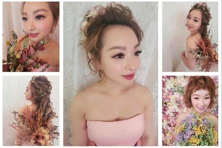 素人改造|新娘造型|短髮變長髮|短髮新娘|丸子頭|浪漫長髮|編髮