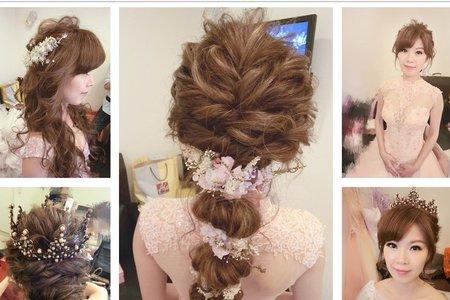 新秘RITA|新娘秘書|bride-viki|球球造型|不凋花花飾|浪漫捲髮|浪漫造型|皇冠