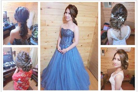 新秘RITA|新娘秘書|bride-笑長|低馬尾|好媳婦髮型|訂婚造型|盤髮