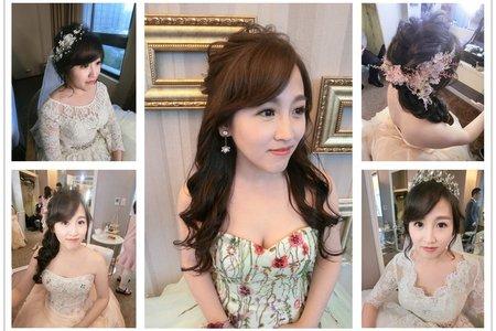新秘rtia|新娘秘書|bride-瑄|盤髮|超長蕾絲長頭紗|浪漫捲髮|編髮