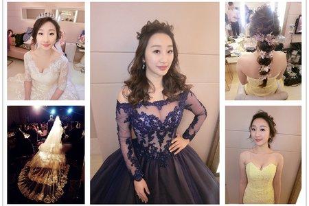 新秘rtia|新娘秘書|bride--小倩|浪漫捲髮|編髮|球球造型|編髮|不凋花乾燥花
