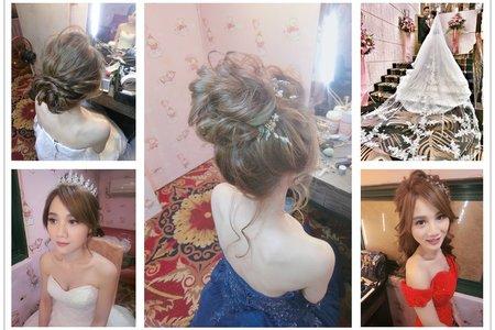 新秘rita|新娘秘書|bride-小咪|浪漫捲髮|髮絲感|盤髮|公主頭|日系丸子頭