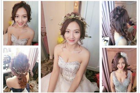 新秘rita|新娘秘書|bride-sunkiss|低馬尾|編髮|蕾絲長頭紗|仙仙風