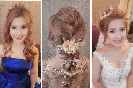 新秘rita|新娘秘書|bride-蘋儀|盤髮|浪漫公主造型|仙仙風|球球造型|乾燥花不凋花