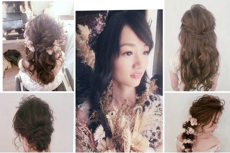 新秘rita|新娘秘書|新娘造型|側邊髮型|白紗造型|浪漫捲髮|大眼妝|公主頭|球球造型