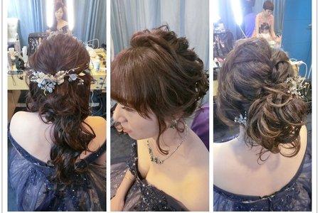 新秘rita|新娘秘書|bride-宛宛|短髮變長髮|短髮新娘|側邊捲髮