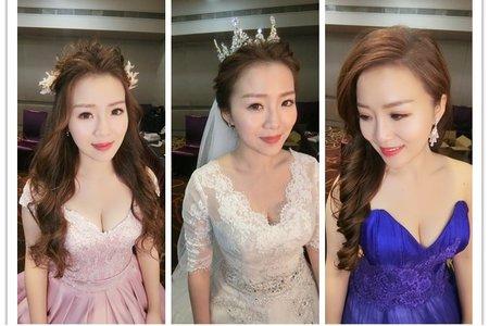 新秘rita|新娘秘書|bride-mandy|韓系盤髮|側邊捲髮|仙仙風|蕾絲長頭紗
