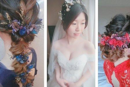 新秘rita|新娘秘書|bride-花花|低馬尾|側邊編髮|好媳婦髮型