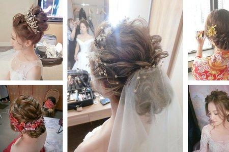 精選盤髮造型|白紗造型|進場造型|訂婚造型