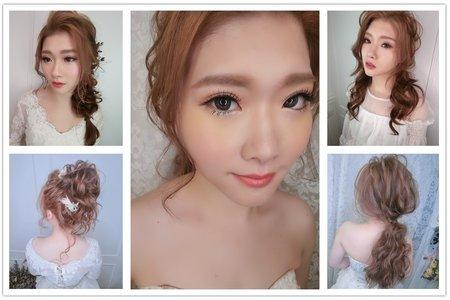 新秘RITA|新娘秘書|新娘造型|側邊編髮|公主頭|線條感|圓眼|日系丸子頭