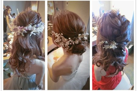 新秘rita|新娘秘書|bride-卉茹|新娘髮型|新娘造型|盤髮型|浪漫捲髮|公主