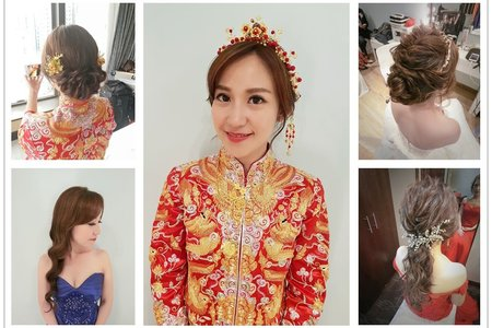 新娘秘書|新秘rita|bride-Jennifer|群掛造型|波浪捲髮|香港新秘