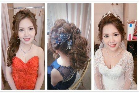 新秘rita|新娘秘書|bride-欣儀|丸子頭|白紗進場|側邊|編髮|日系髮型|大眼妝|高馬尾