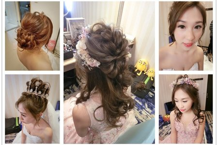 新秘rita|新娘秘書|bride-ㄚㄚ|丸子頭|新娘造型|公主頭|長頭紗