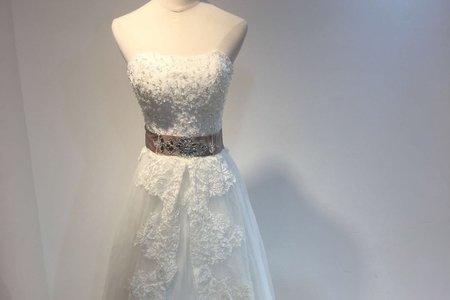 立體鑲鑽A-LINE婚紗
