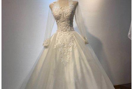 玫瑰花紋婚紗