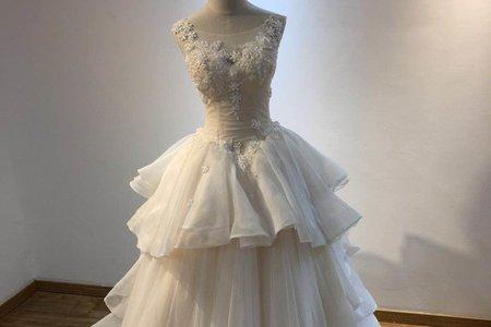 多層次立體婚紗