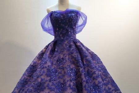 紫色雙層次禮服