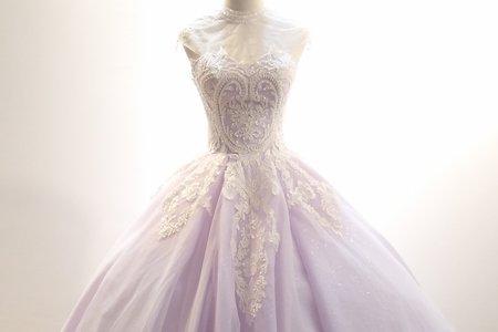 紫羅蘭花紋禮服