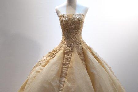 金色立體花朵禮服