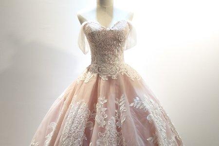 仙女款藕色蓬裙禮服