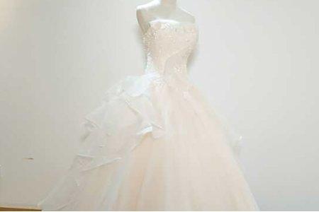 雪花狀蕾絲花紋禮服