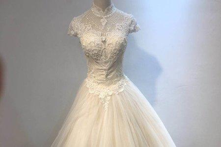 古典旗袍領婚紗