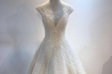 歐風典雅鑲珠婚紗