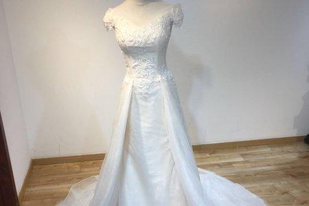 甜美系立體花紋婚紗