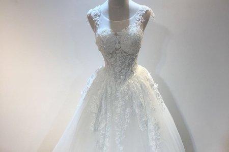 婚紗禮服顯瘦花草系婚紗