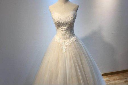 赫本香檳色婚紗