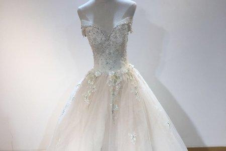 鑲鑽款碎花婚紗