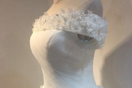 女王系立體珠鑽婚紗