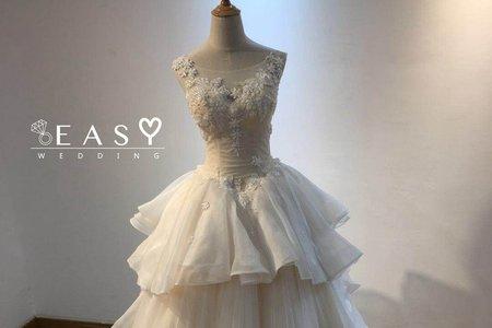 多層次典雅婚紗