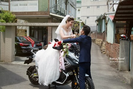 婚攝|台中 |重機迎娶 雙儀式&午宴|仙園海鮮餐廳